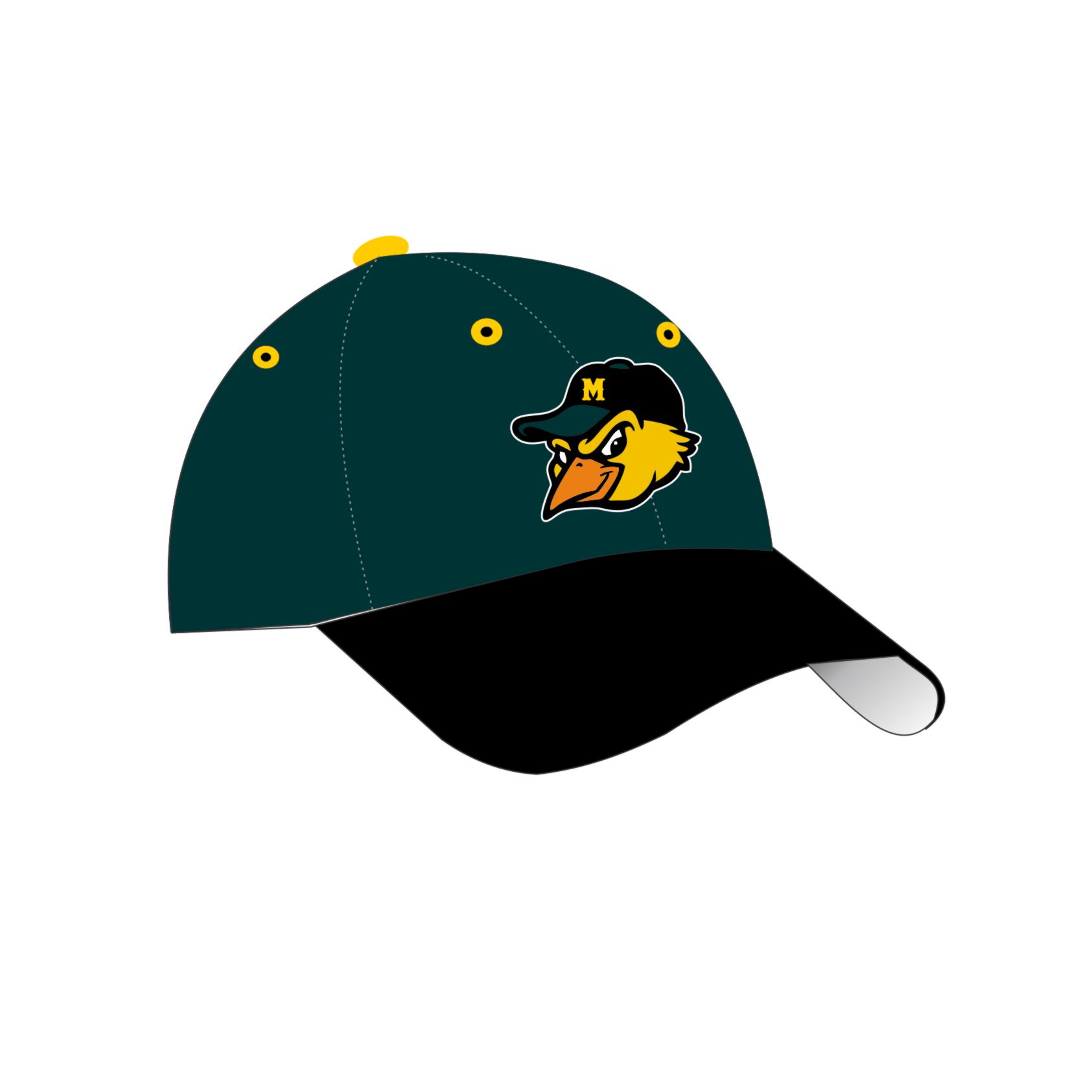 mudhens baseball hat new logo 2017